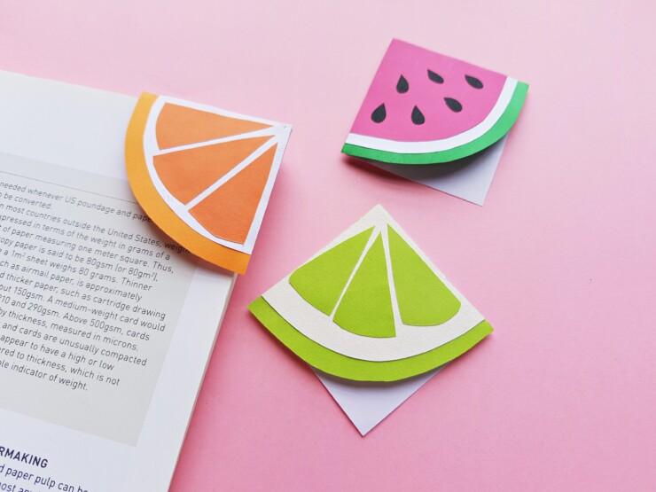 fruity bookmarks paper craft idea
