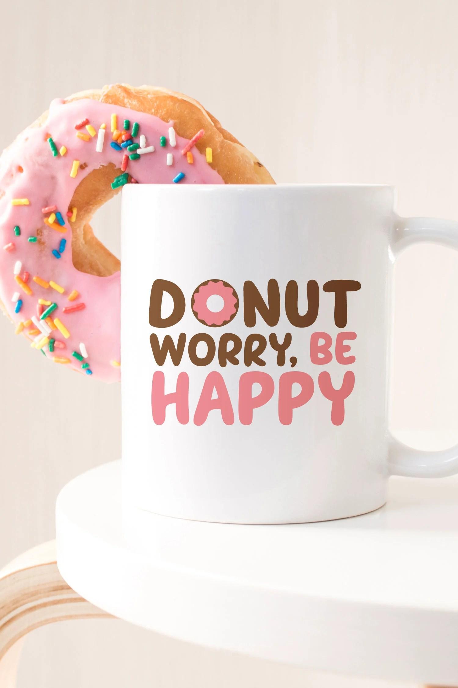 donut svg on coffee mug
