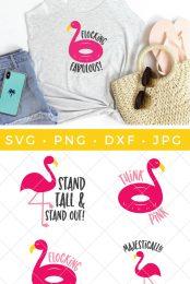 flamingo svg pin image