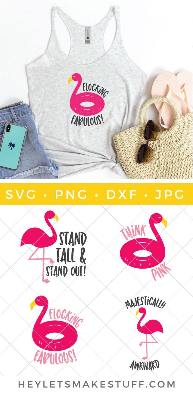 flamingo SVG files pin image
