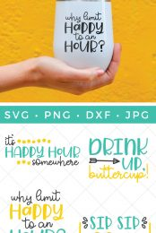 happy hour SVG files