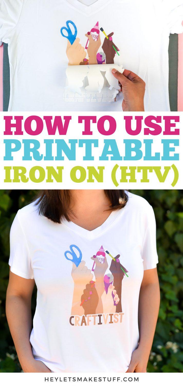 How to Use Printable Iron On (HTV) pin image