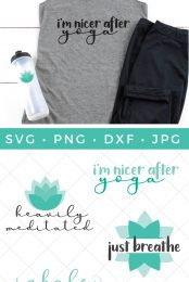 yoga SVG pin image