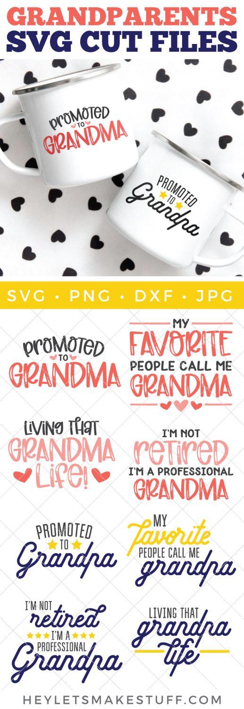 Grandma and Grandpa SVG files pin image