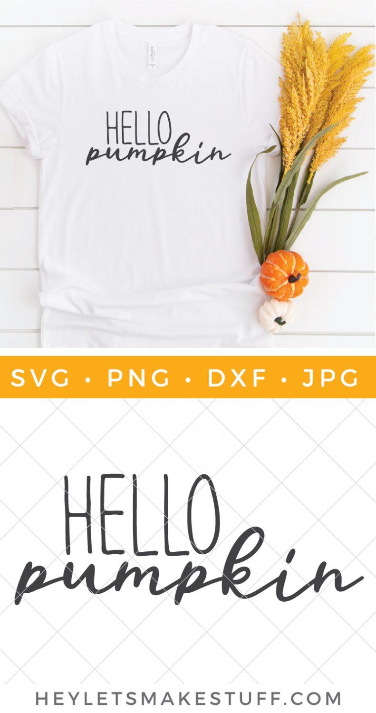 Free Hello Pumpkin SVG file pin image