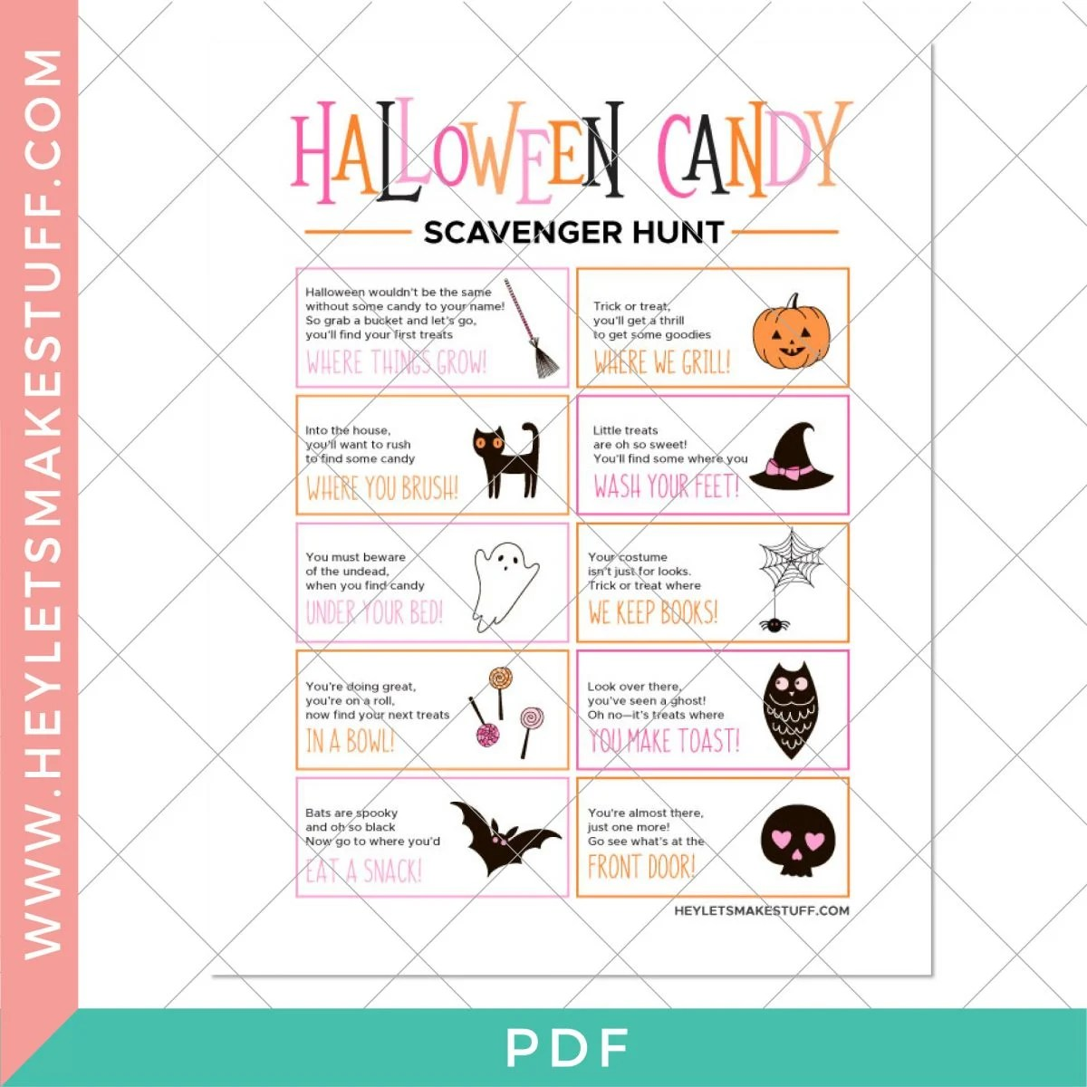 Security image with Halloween Candy Scavenger Hunt