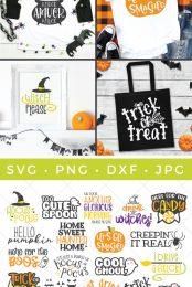 Pin image for this Halloween SVG bundle