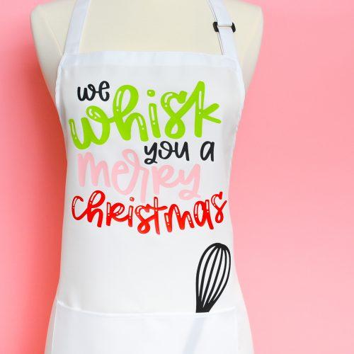 Christmas apron with the Cricut