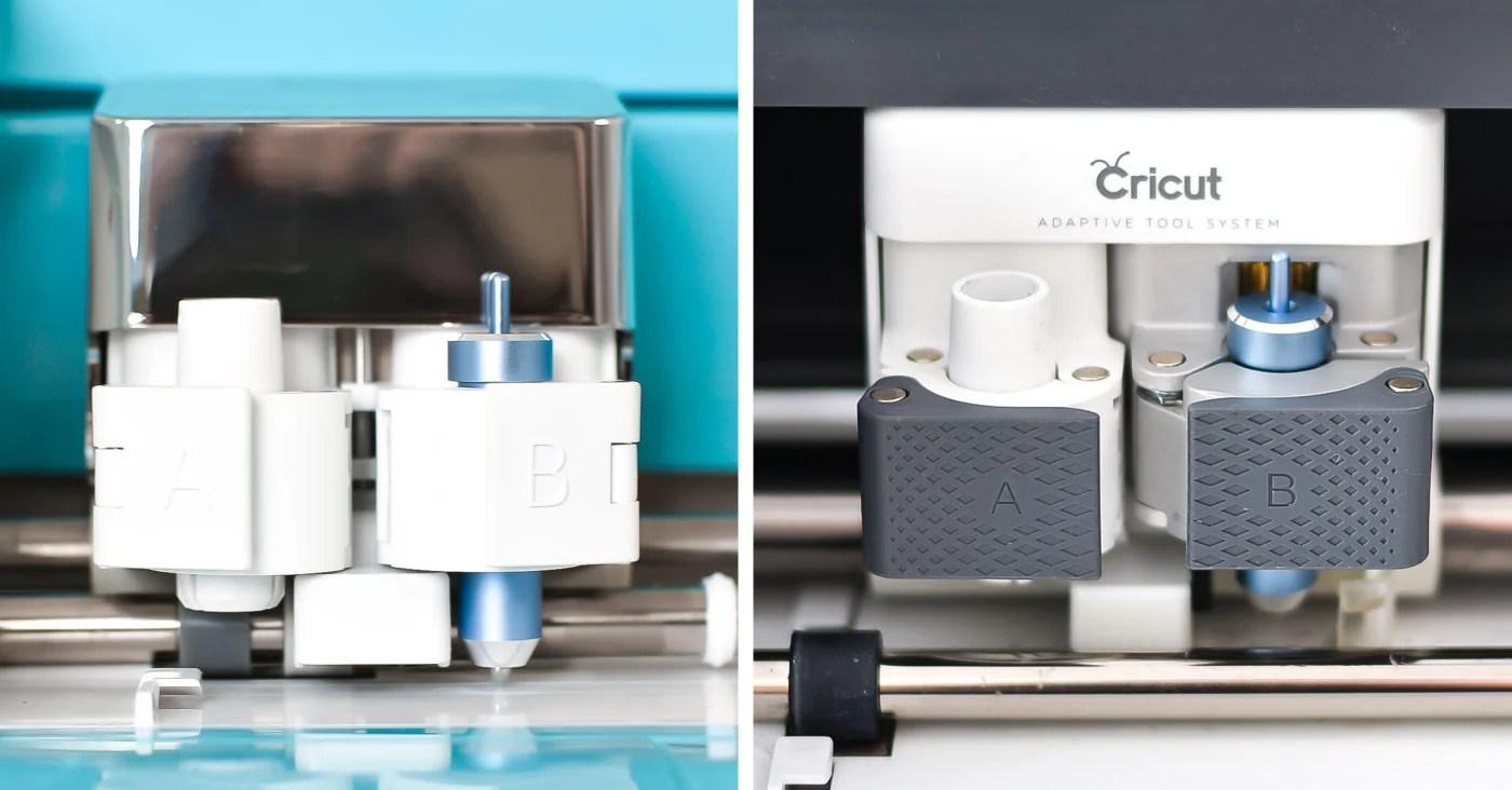Cricut foil tool inside both the Cricut Explore and the Cricut Maker carriages.