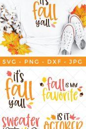 Fall cut files bundle and shirt