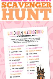 Halloween Scavenger Hunt Pin Image