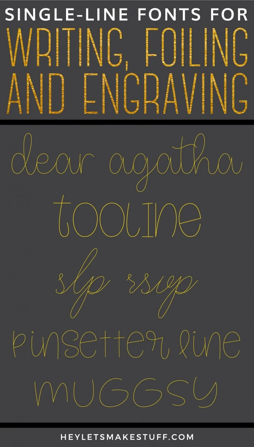 Line free for single engraving fonts Single Line