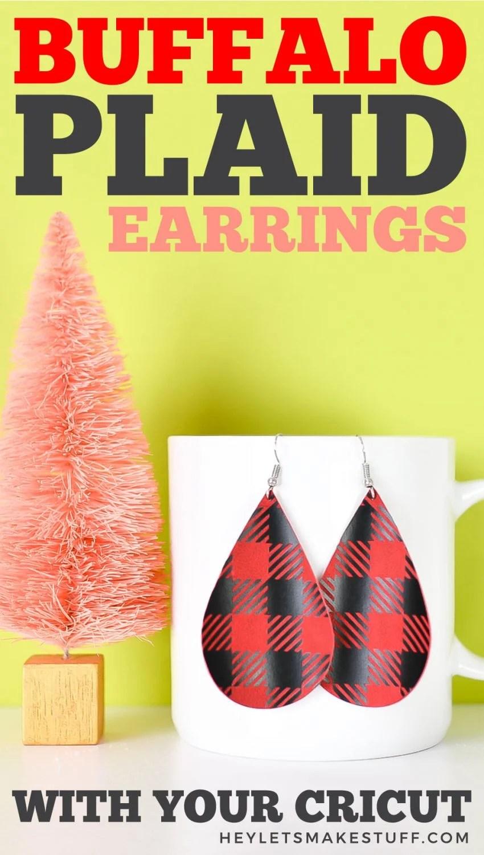 Buffalo Plaid Earrings pin image