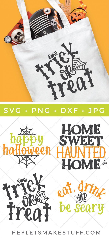 Halloween cut files pin image