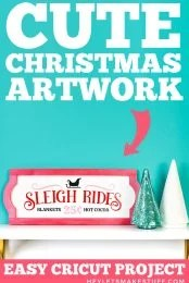 Sleigh Rides Christmas Sign Pin Image