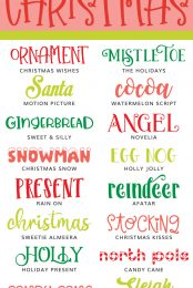 Christmas fonts pin image