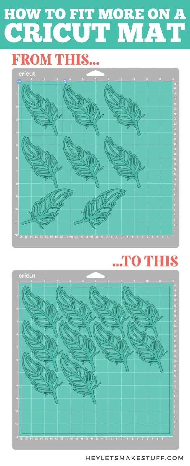 How to Fit More on a Cricut Mat pin image