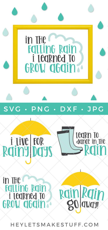 Rain SVG Bundle Pin Image