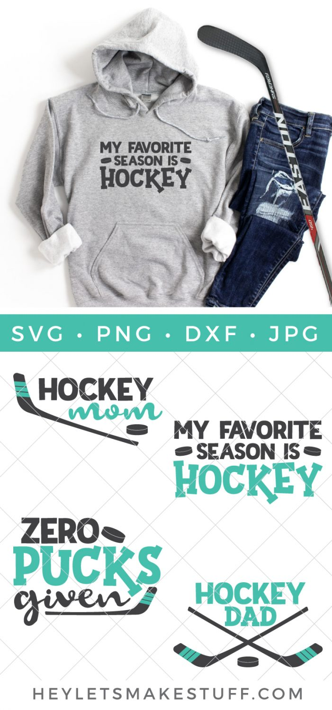 Hockey SVG Bundle Pin image