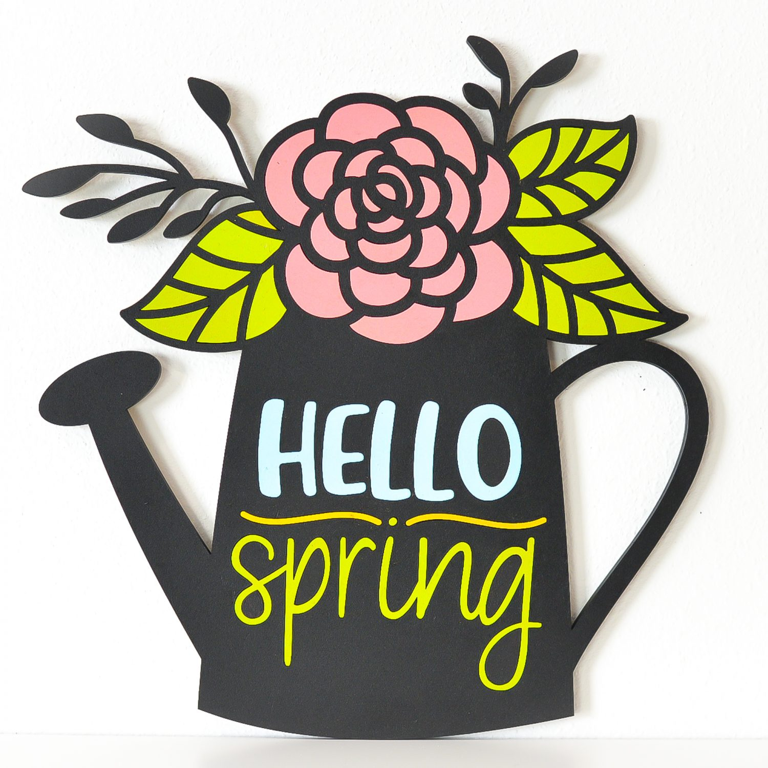 Final Hello Spring Sign with bunny