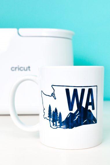 Closeup of Washington State Infusible Ink Mug