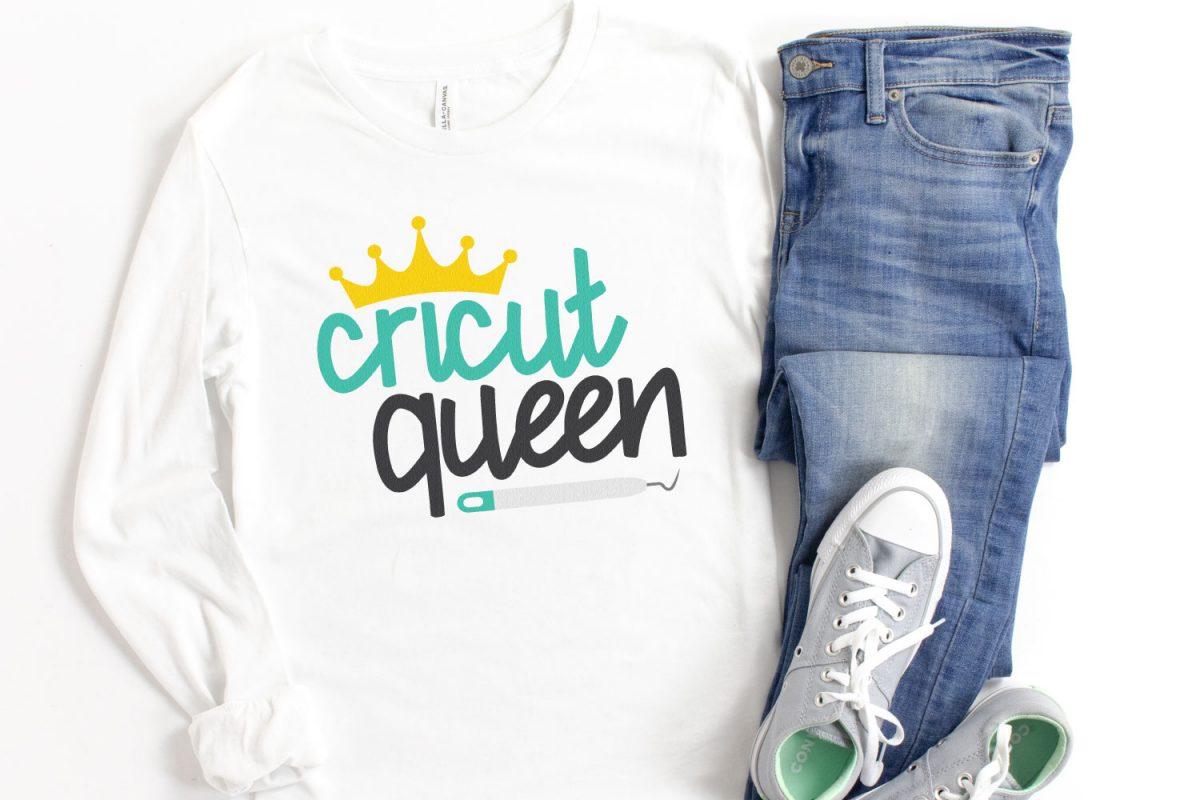 Cricut Queen SVG image