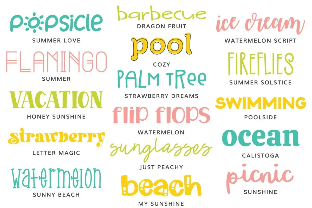 All the summer fonts in this post
