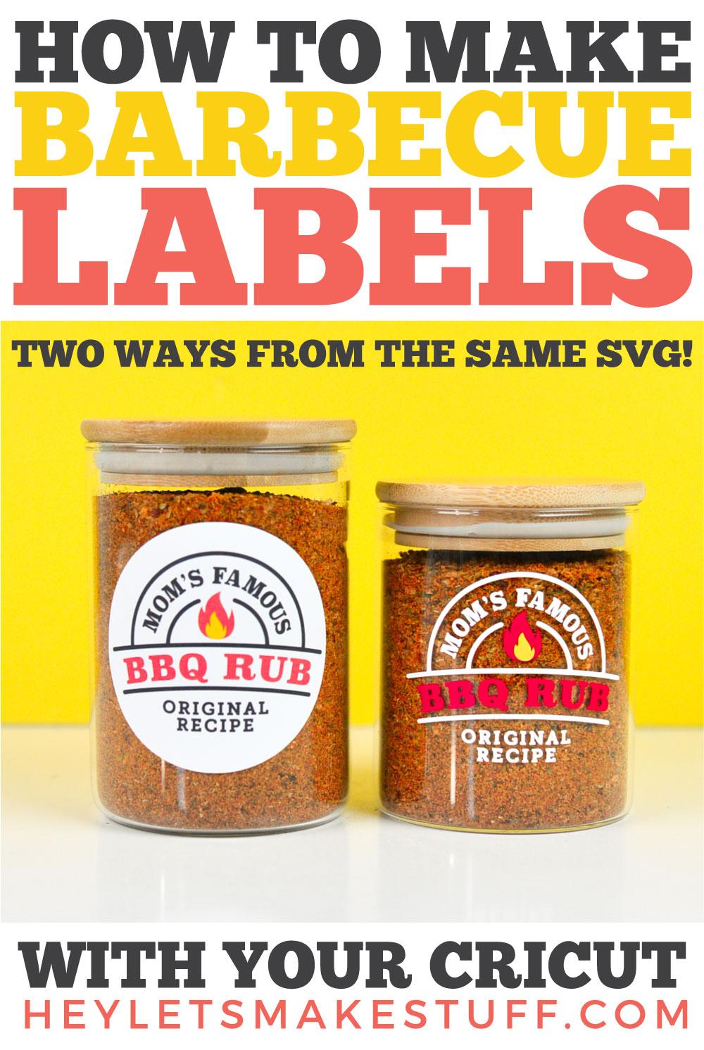 Cricut Barbecue Labels Pin Image