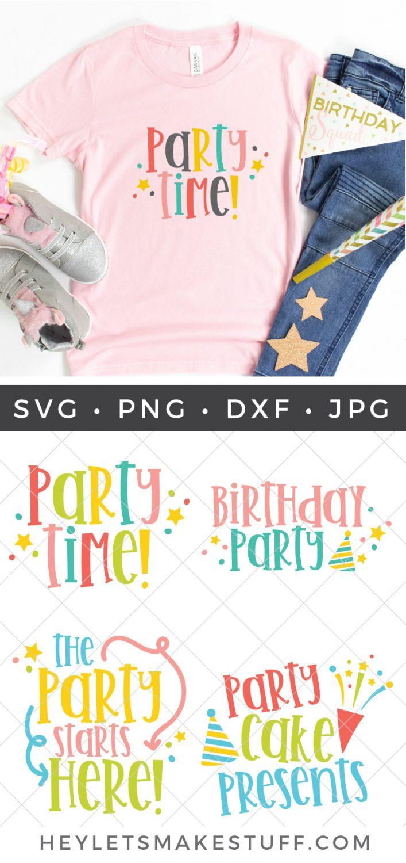 Birthday Party SVG Bundle Pin Image