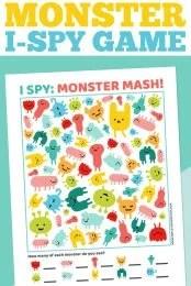 I-Spy Monster Printable Pin Image