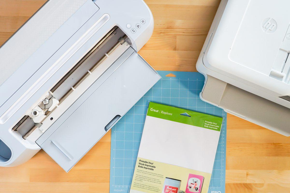Supplies: Cricut Maker 3, Blue mat, Sticker vinyl, and printer
