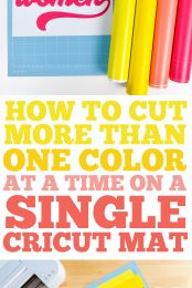 How to Cut More than One Color on a Single Cricut Mat Pin Image