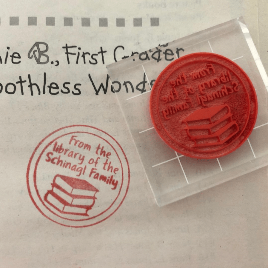 Rubber Stamp made with a Glowforge