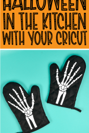 Skeleton Oven Mitts Pin Image #3