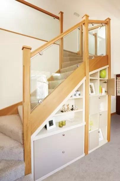 Storage Space Under Stairs Living Room Storage Ideas House | Under Stair Garden Design | Plant | Ideas | House | Stair Case | Pebble Garden