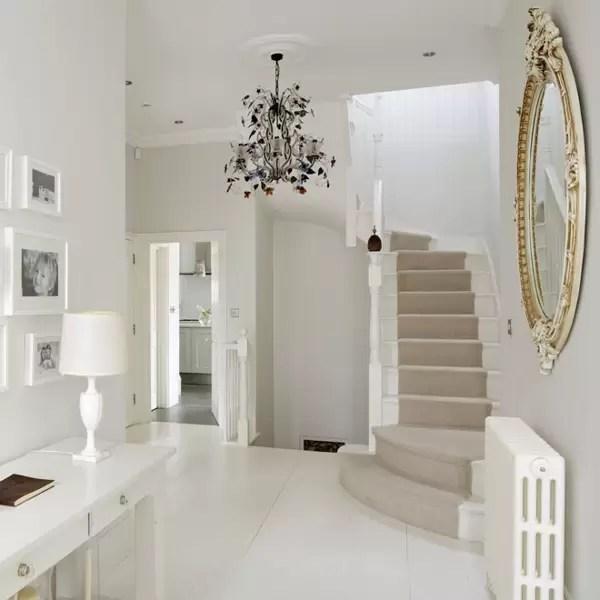 Stylish Stair Runner Carpet Ideas House Garden | White Stairs With Carpet | Black | Chic | Victorian Staircase Carpet | Hardwood | Pinstripe Grey