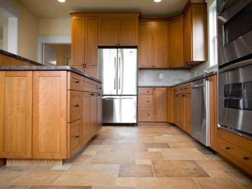 What s the Best Kitchen Floor Tile    DIY Spacious Kitchen with Wood and Tile