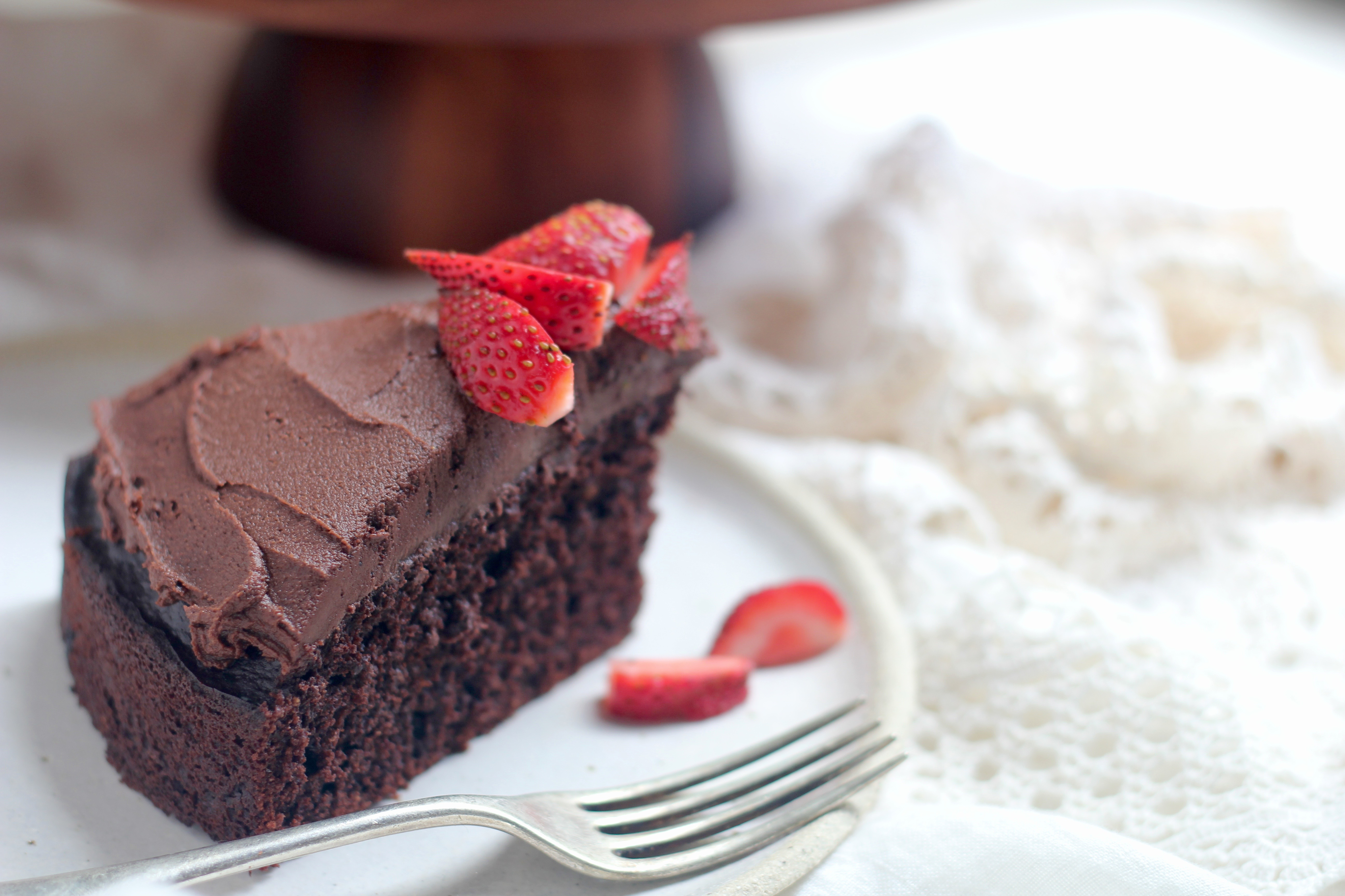 Chocolate Cake With Cocoa Tahini Frosting