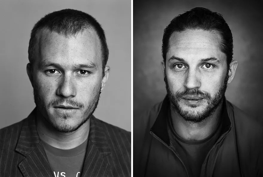 Tom Hardy and Heath Ledger