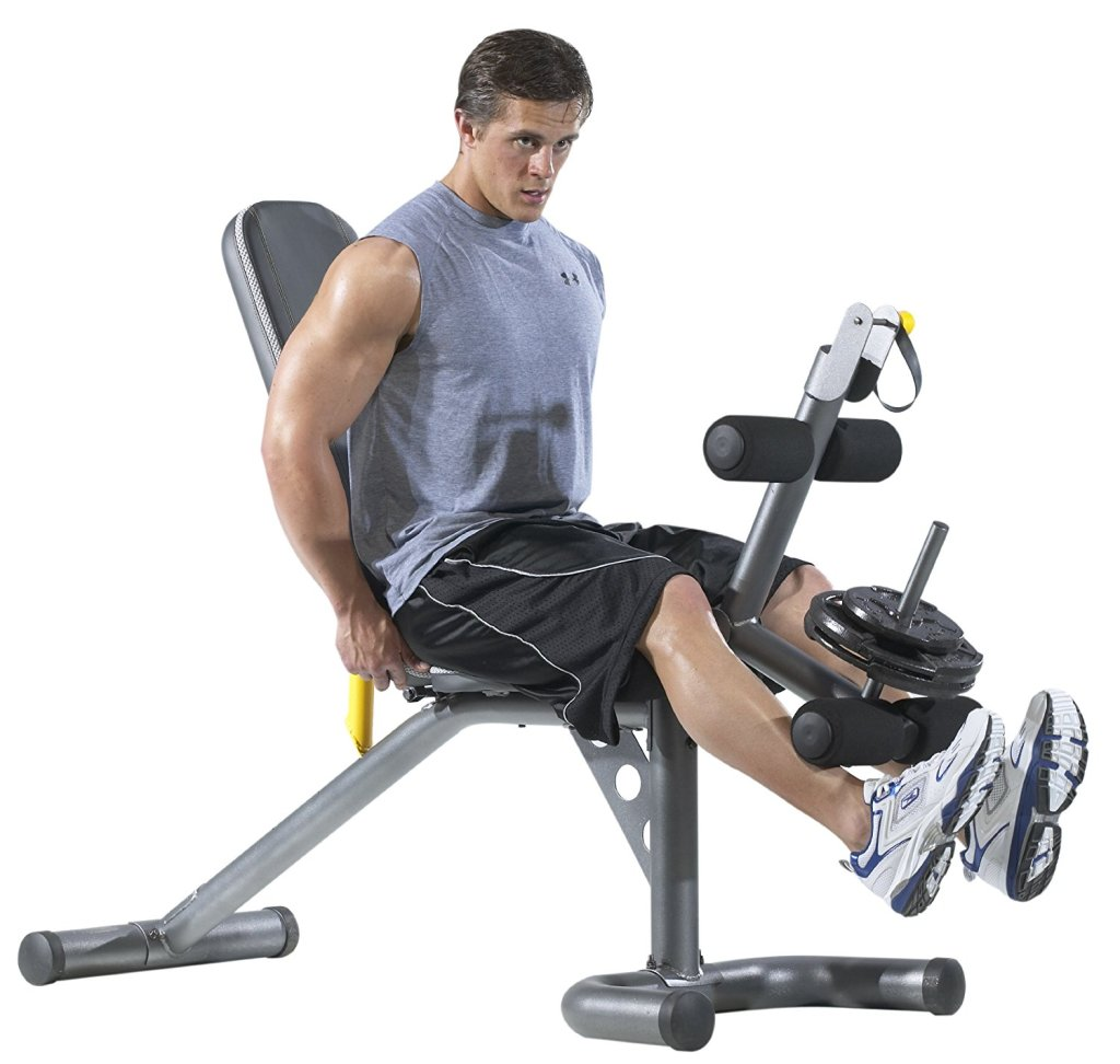 Gold S Gym Olympic Workout Bench W Squat Rack Only 139