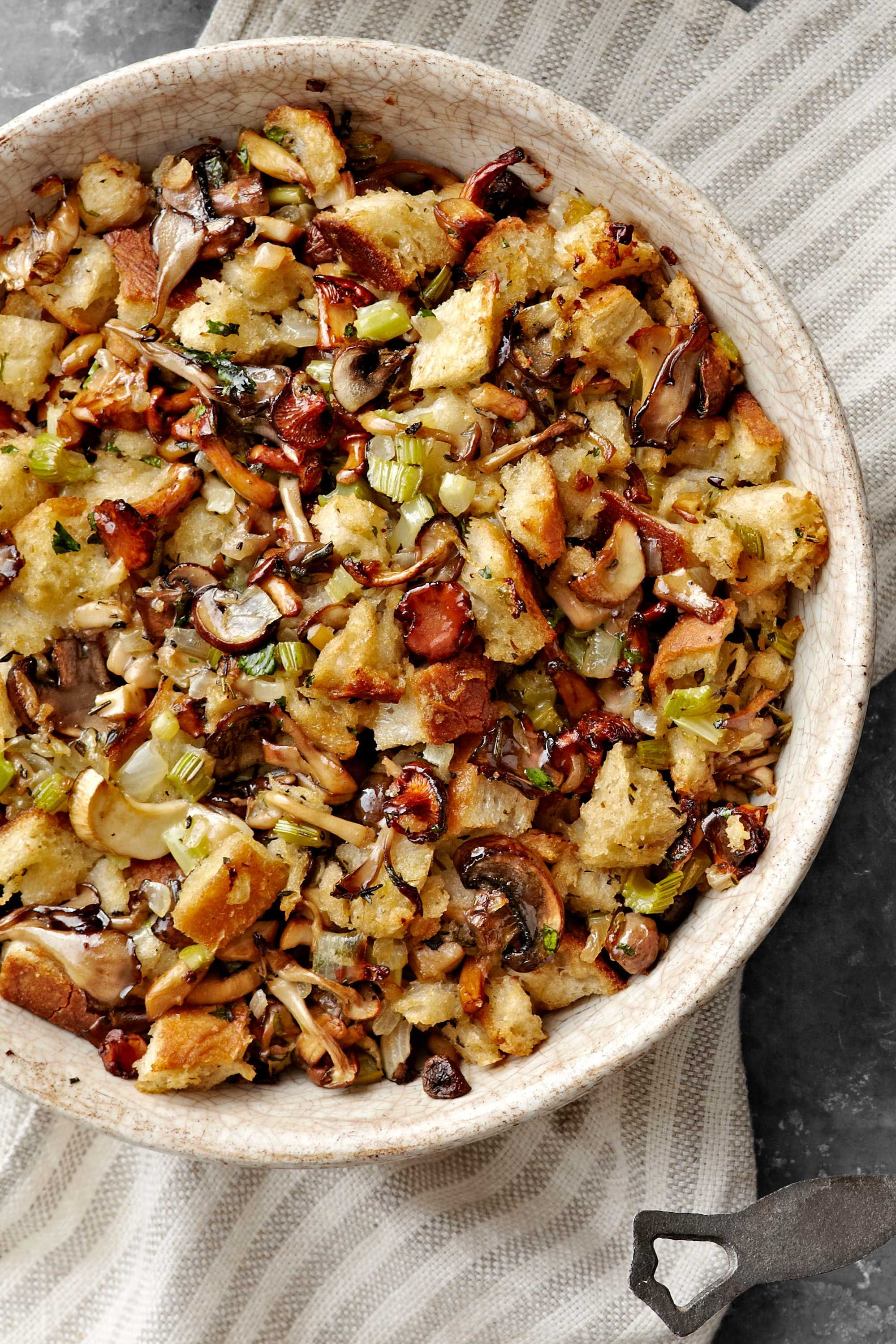 35 Best Stuffing Recipes   Easy Thanksgiving Stuffing Ideas sourdough and mushroom stuffing recipe