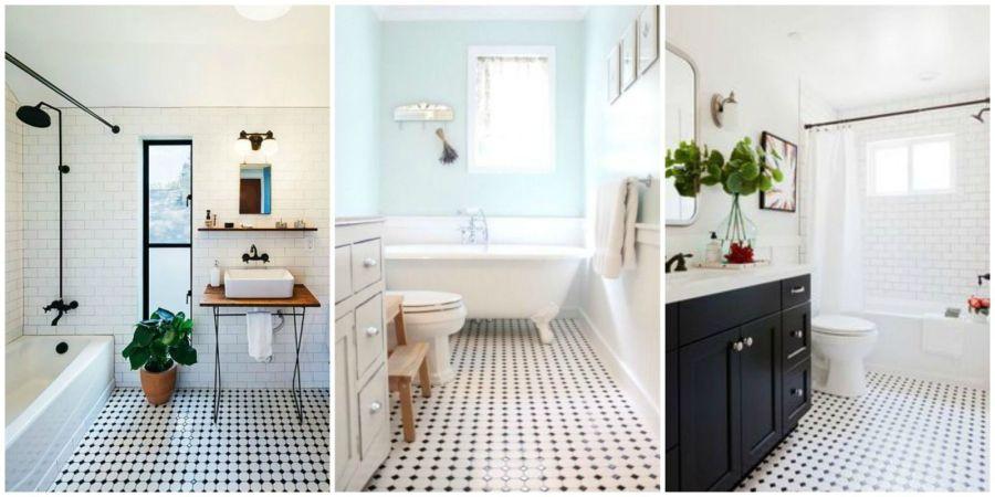 Classic Black and White Tiled Bathroom Floors are Making a Huge Comeback When it comes to classic design ideas  black and white tile is king   while  it can fade in popularity  it never really goes out of style