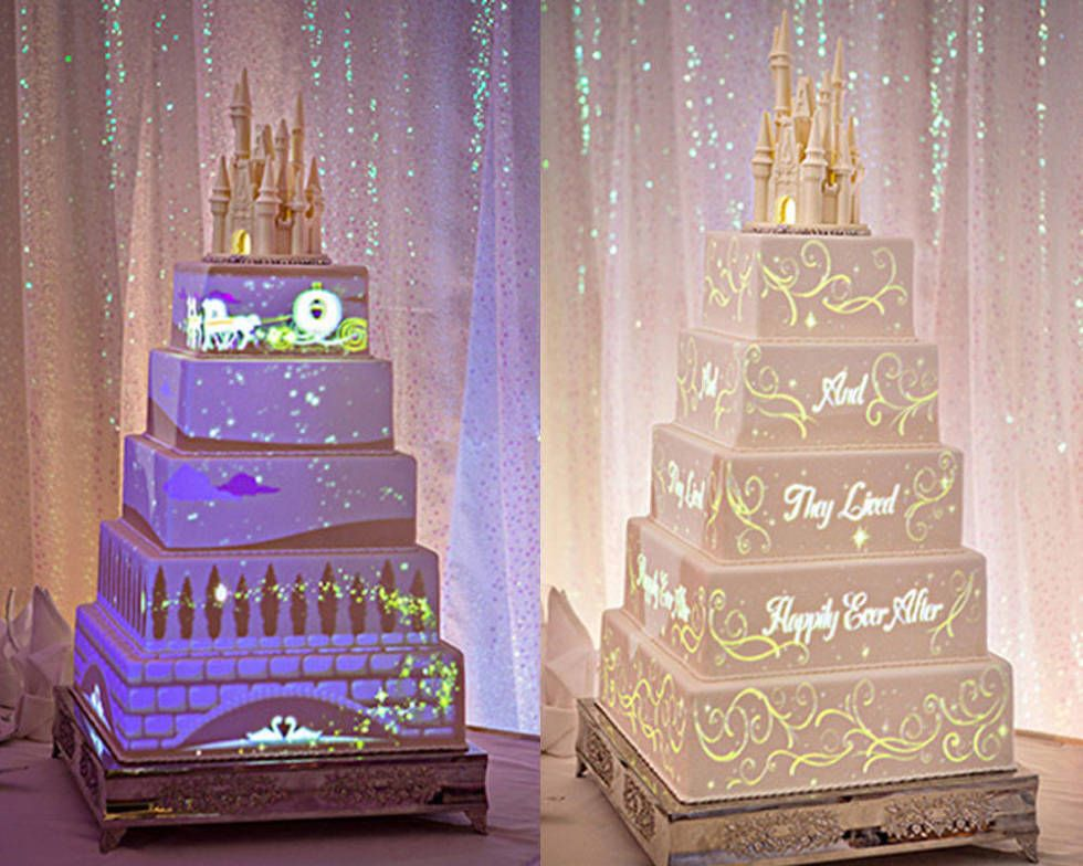 You can now get Disney wedding cakes with light shows on them Disney light up wedding cakes