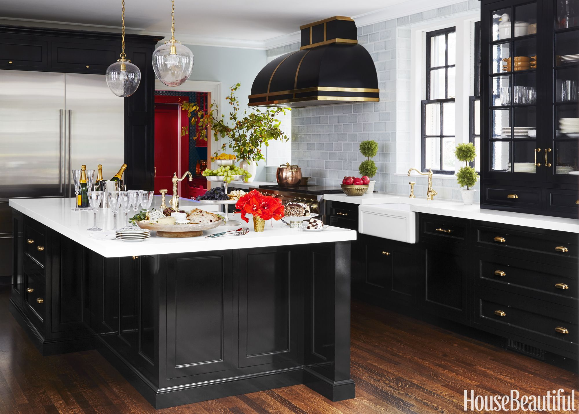10 Black Kitchen Cabinet Ideas   Black Cabinetry and Cupboards jim dove black kitchen