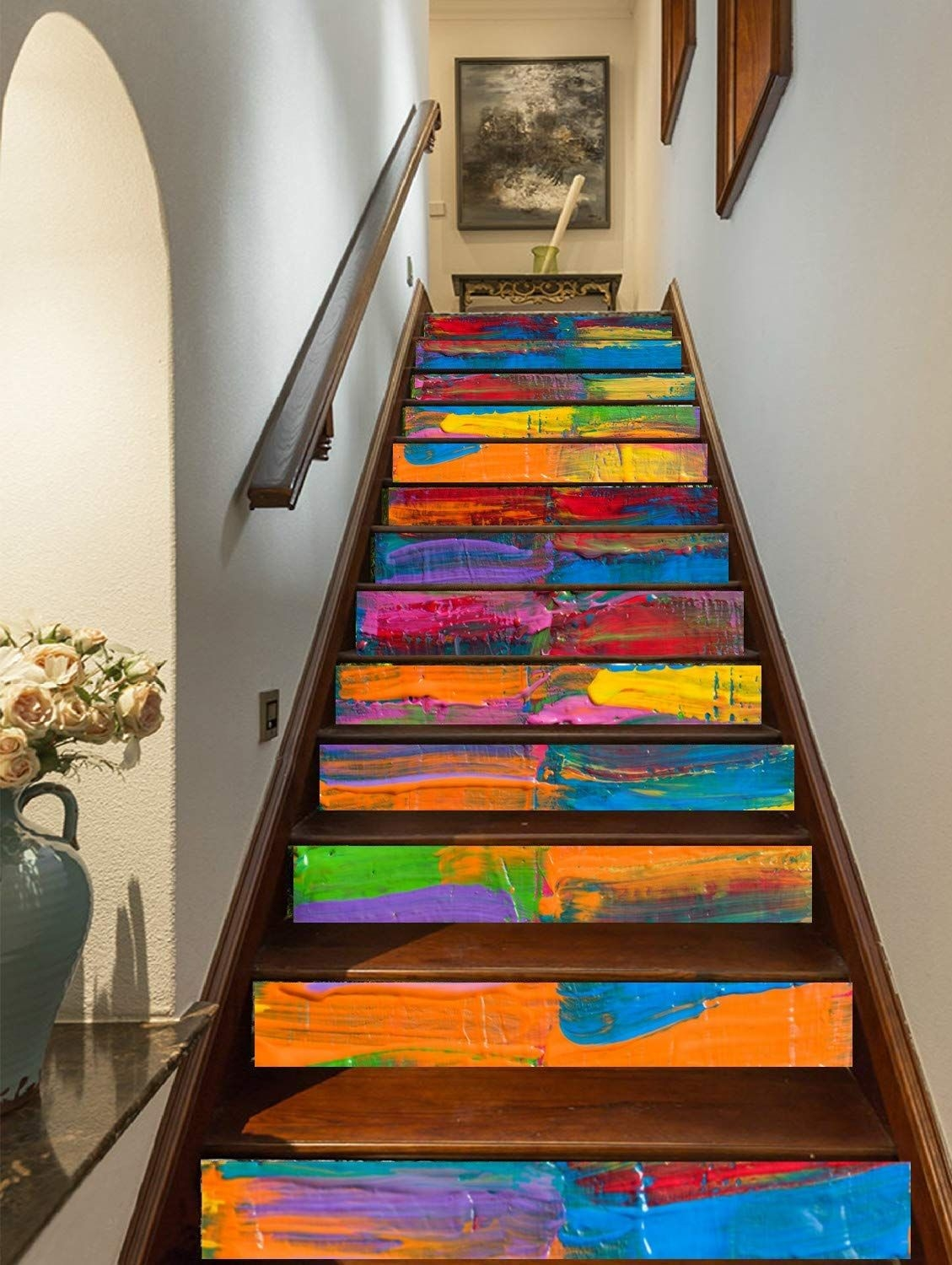 15 Of The Best Staircase Stickers And Tile Decals On Amazon   Stick On Carpet For Stairs   Rugs   Flooring   Carpet Tiles   Stair Runner   Anti Slip