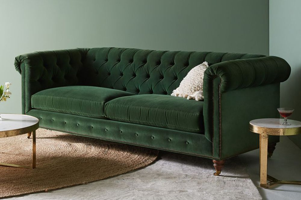 9 Best Chesterfield Sofas to Buy in 2018   Reviews of Chesterfield     Anthropologie Lyre Chesterfield Two Cushion Sofa