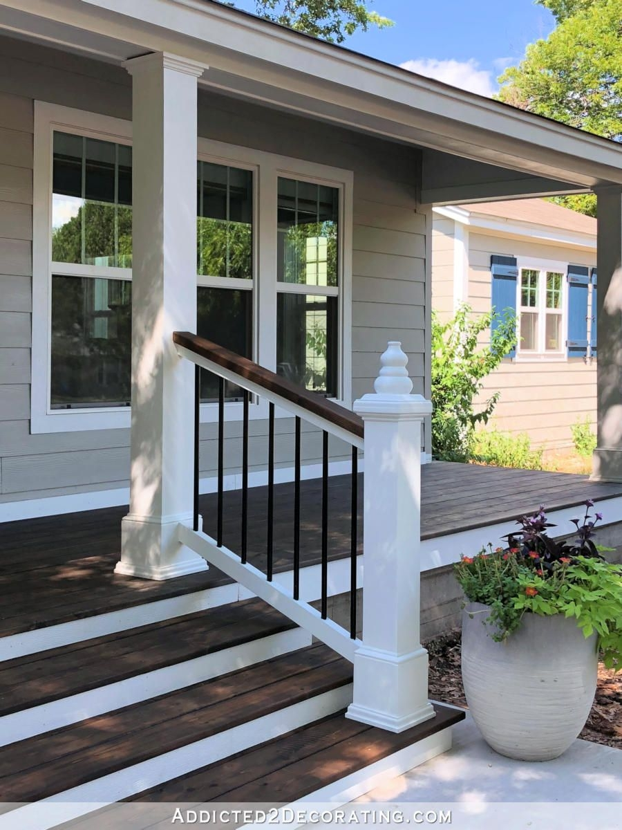 20 Diy Front Step Ideas Creative Ideas For Front Entry Steps | Vinyl Railings For Outside Steps | Balusters | Composite | Wood | Precast Concrete Steps | Railing Installation