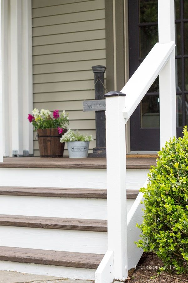 20 Diy Front Step Ideas Creative Ideas For Front Entry Steps   Outside Handrails For Stairs   Porch   Wrought Iron   Stainless Steel   Backyard   Wooden