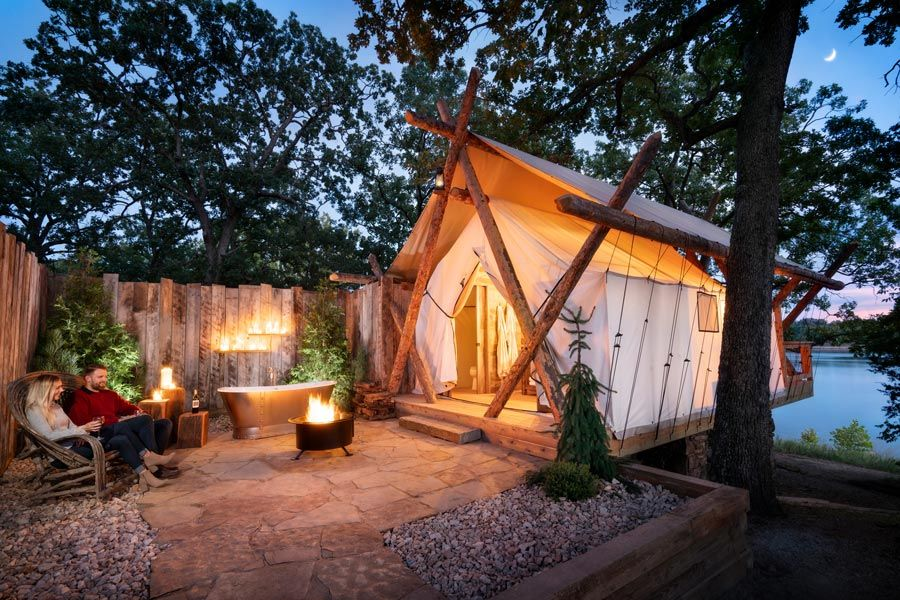 This Luxury Lakeside Glamping Site In Missouri Comes With
