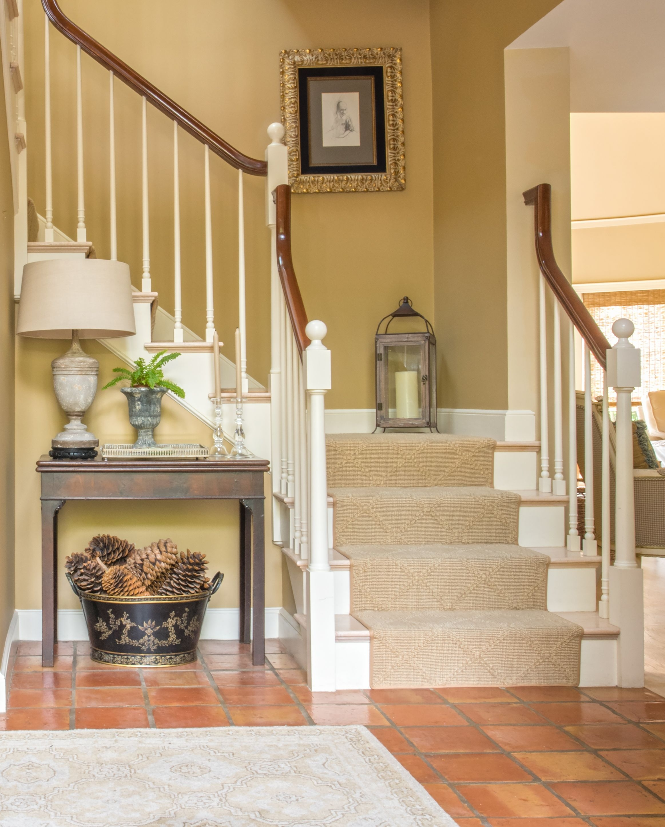 27 Stylish Staircase Decorating Ideas How To Decorate Stairways | House Steps Design Inside | Gallery | Front | In House Construction | Stair Decoration | Grill